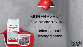 MUREREVENT - microcement og letvægtsbeton fra Mira