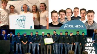 Småskala bølgekraft, bilverksted og mediebyrå ble de første vinnerne i NM for ungdomsbedrifter