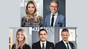 Emma, Einar, Therese, Filip och Jimmy. Linköpings mest rekommenderade mäklare.