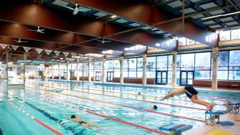 Renoveringen av 50-metersbassängen är ett planerat underhåll och ett led i att säkerställa att den ska kunna fortsätta att användas under ett antal år framöver. Arkivfoto: Mats Persson