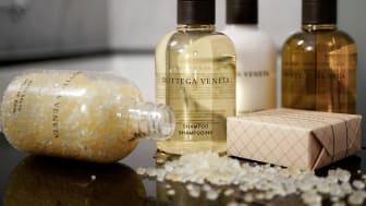 New bathroom amenities by Bottega Veneta at Grand Hôtel Stockholm
