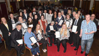 The winners and guests at the 2016 awards.