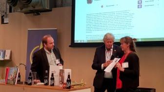 Fr. v. Pelle Agorelius, Ulf Elfving och Lotta Persson från Lotta-Boden i Loos, Hälsingland.  Foto: Fredrik Andersson