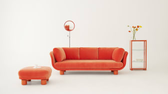 """The Famna 2020 sofa is manufactured by OH Sjögrens in Tranås, Sweden, which makes all of Svenskt Tenn's upholstered furniture. As with the rest of the upholstered furniture in the range, the manufacture of Famna 2020 is high-end """"haute couture."""""""
