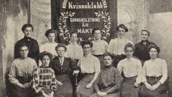 """Kvinnoklubb med budskapet """"sammanslutning är makt""""."""