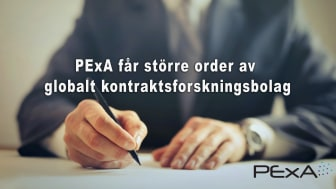 PExA får större order av globalt kontraktsforskningsbolag