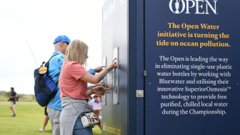 Unique Bluewater water stations helped The R&A halt the sale of single use plastic bottles at The 148th Open in July 2019 at Royal Portrush in Northern Ireland, visited by over 237,000 people(Credit: The R&A)