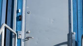 Elektronisk dørlås utside