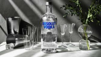 Absolut Vodka ikonisk klar glassflaske