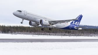 SAS trafikerar Scandinavian Mountains Airport nästa vinter med sina moderna flygplan med mindre klimatpåverkan.