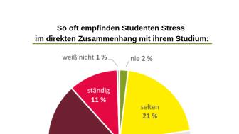 Stress ist eines der studentischen Hauptprobleme.