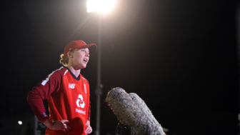 Knight after the West Indies series in September. Photo: Getty Images