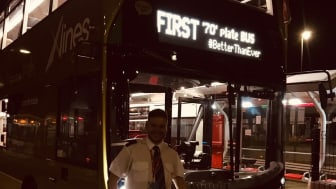 The bus was driven in service by Go North East's managing director Martijn Gilbert