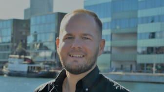 Phillip Allgoth är tillförordnad regionchef på Ung företagsamhet Skåne. Foto: UF Skåne
