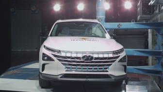 The Hyundai NEXO in the Euro NCAP pole crash test