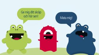 Invigning av Västerås första pratande soptunnor