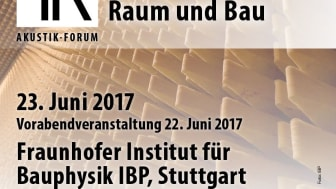 13. Akustik-Forum Raum und Bau