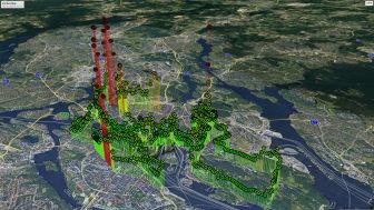 Under Stockholm marathon 2019 mätte företaget Senseair CO2-halten i olika delar av Stockholm med en konventionell koldioxidmätare. Graferna illustrerar hur olika halterna kan vara i en stad, och behovet av en billig och liten mätare.