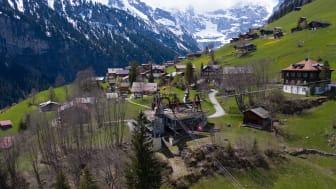 Gimmelwald mit der Luftseilbahnstation der Schilthornbahn AG