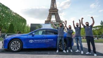 Toyota Mirai slo verdensrekorden for distansen kjørt på én hydrogentank