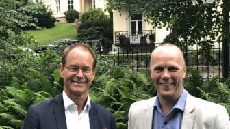 adm. dir. Eirik Thrygg  og økonomidirektør Heming Rio er svært fornøyd med selskapets resultater for 2018.