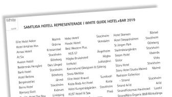 Dessa 100 hotell listas i nya White Guide Hotel+Bar 2019