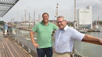 ESVAGT CEO, Søren Nørgaard Thomsen and the mayor of Esbjerg, Johnny Søtrup