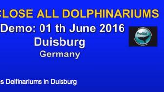 ProWal und WDSF demonstrieren am 1. Juni 2016 vor dem Duisburger Zoo