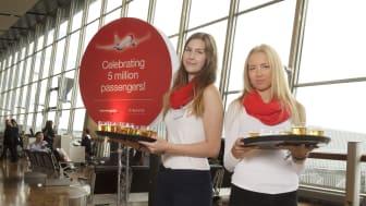Norwegianilla jo viisi miljoonaa matkustajaa Suomessa