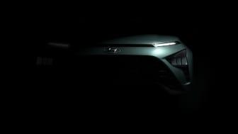 Första teaserbilderna på helt nya Hyundai Bayon.