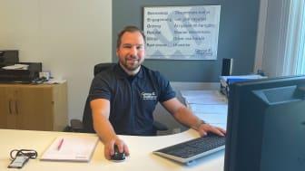 Richard Westholm, George Anderson Golv i Borås, är nöjd med funktionerna i nya Golv- och Våtrumskontrollen.
