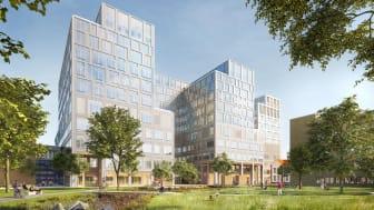 Vårdbyggnaden - arkitektbild - Nämn White arkitekter vid användning
