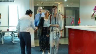 The Norwegian Embassy visiting TES Vietnam