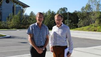 Professor Terje Larsen og forskningsdirektør i Calanus AS, Kurt Tande