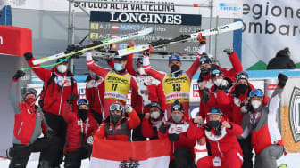 Mayer and Kriechmayr celebrate double victory on the Stelvio run