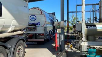 Leverans av biojetbränsle som är tillverkat av använd matolja till Ängelholm Helsingborg Airport