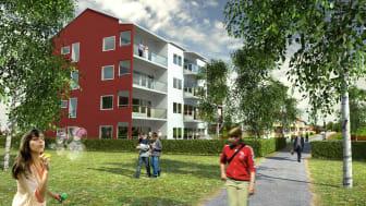 Lindbäcks och Norran bygger bostäder på Älvsbacka Park