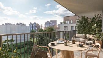 HSB Brf Esplanaden balkong