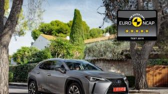 Lexus UX EuroNCAP 5 stars 02 4x3