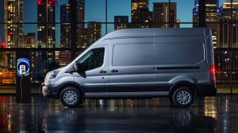 Europa-lansering for nye E-Transit: Klasseledende varebil snart klar for bestilling