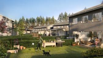 Säljstart för rad- och parhus i Riksbyggens Brf Glanbacken i Norrköping