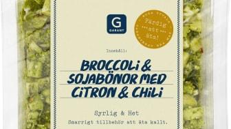 Garant Broccoli & sojabönor med citron och chili, 150 gram.