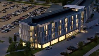 Arlandastad Holding AB och Frame Invest AB utvecklar nytt hotell vid Arlanda