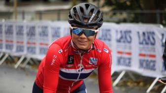 Susanne Andersen under sykkel-VM i Bergen