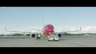 Boeing 737-800 på OSL.