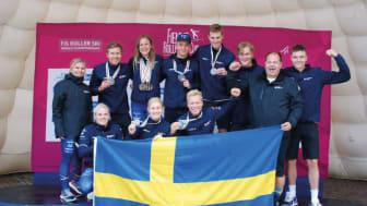 Sju medaljer varav tre guld blev svenskskörden på VM i rullskidor.