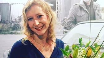Rebecka Spånberg vid prisutdelningen till Årets Företagare 2019 i Ystad.