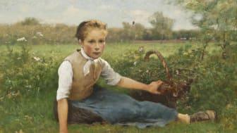 Hugo Salmson, Blomsterplockerskan, 1882. Foto: Erik Cornelius/Nationalmuseum.