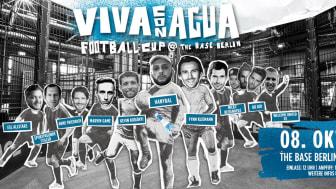 Viva con Agua lädt zum real Soccer mit Fußballpros & Hip Hop in THE BASE BERLIN ein