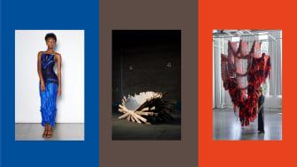 "Verk i bild: Emma K Gudmundson ""Floats"", Anton Brunberg ""Pallet Thief"", Mirjam Hemström ""The Metamorphosis of Weaving"""
